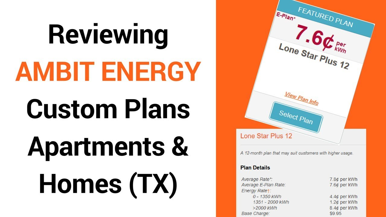 Ambit Energy Texas Rate Featured Plan Review Youtube