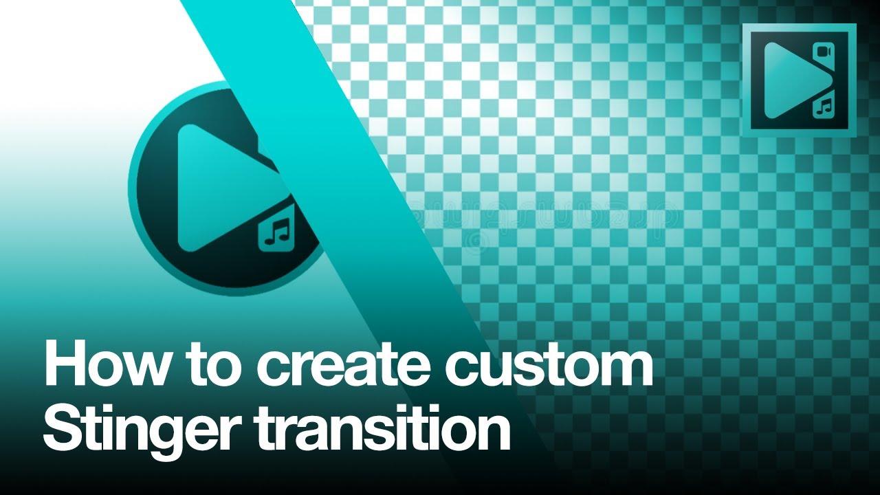 How to create custom stinger transition in VSDC