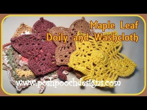 Maple Leaf Doily and Washcloth Crochet Pattern