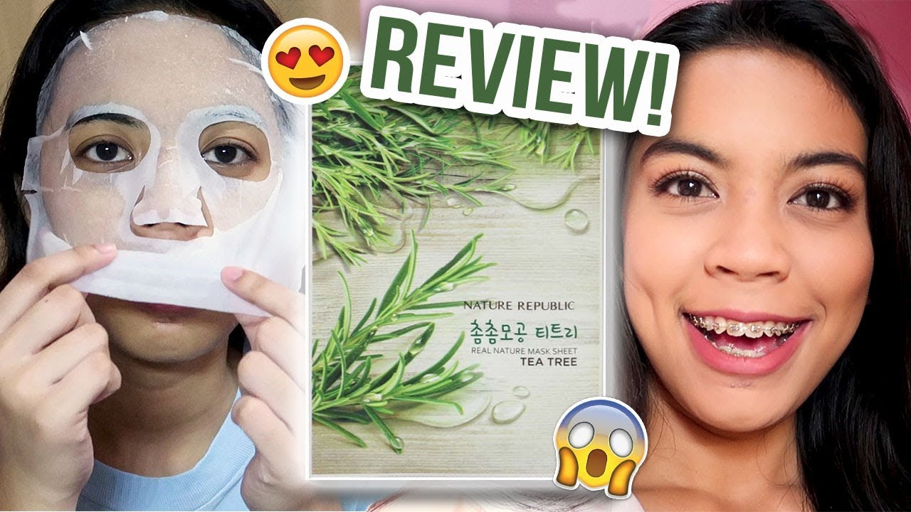 Nature Republic Tea Tree Face Mask Product Demo Review Michsthemicah