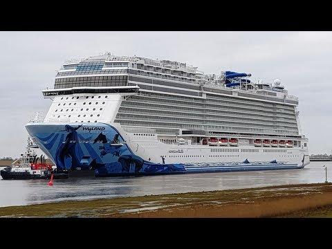 Emsüberführung Norwegian Bliss Norwegian Cruise Line NCL Wyland Breakaway Plus-Klasse Meyer Werft