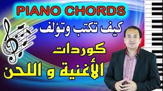 كيف تكتب وتؤلف الكوردات لأي أغنية ولحن مع التدريب العملى | How to Write Chords of Melodies