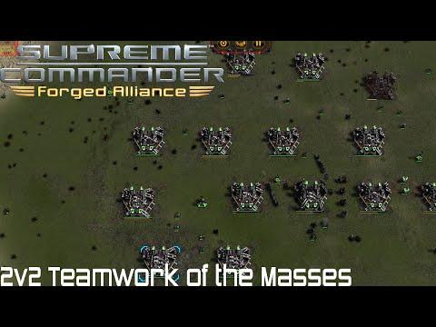 Supreme Commander FAF - 2v2 Teamwork of the Masses