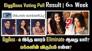 Sakshi Vs Abhirami Big Boss Voting Poll Results Week 6 | Elimination Leaked | Bigg Boss Tamil Voting