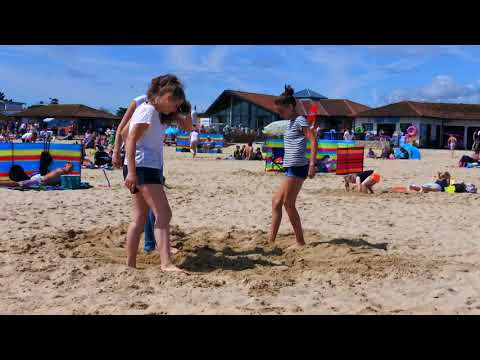 One day on Bournemouth Beach, England 2017