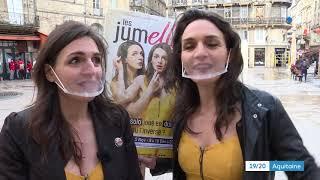 THÉÂTRES FERMÉS : 2 comédiennes jouent dans les lieux publics !
