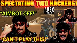 DrDisrespect KILLED BY HACKERS TWICE! & Spectates Them! (RANT) - Apex Legends!