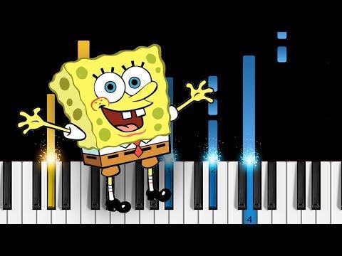 SpongeBob  Theme Song  EASY Piano Tutorial