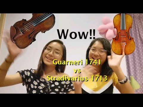 Trying The 1713 Stradivarius And The 1741 Guarneri Violins - Note & Pin