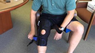 New Options Sports OA Brace Application