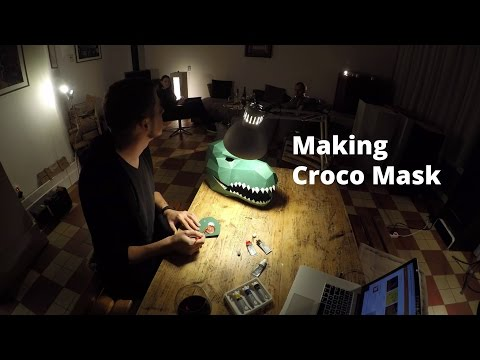 Making Wintercroft T-Rex mask