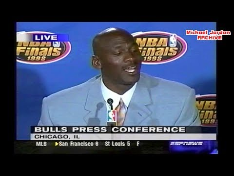 Michael Jordan 1998 NBA Finals Game 3 Press Conference! (42 Points Margin)