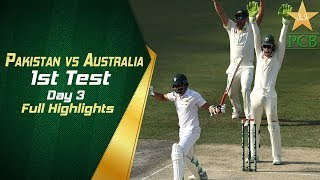 Pakistan vs Australia 1st Test Day 3 Highlights