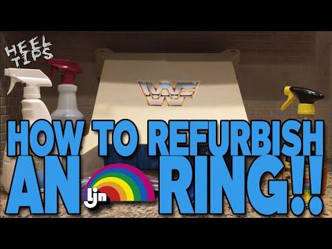 HEEL TIPS: How To Refurbish/Restore A WWF LJN Wrestling Ring!!