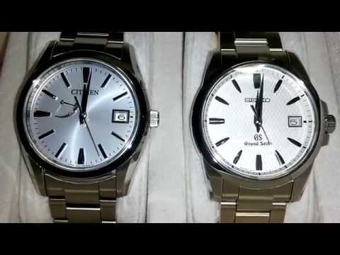 Watch Grand Seiko SBGX053 & The CITIZEN AQ1000-58B Date change