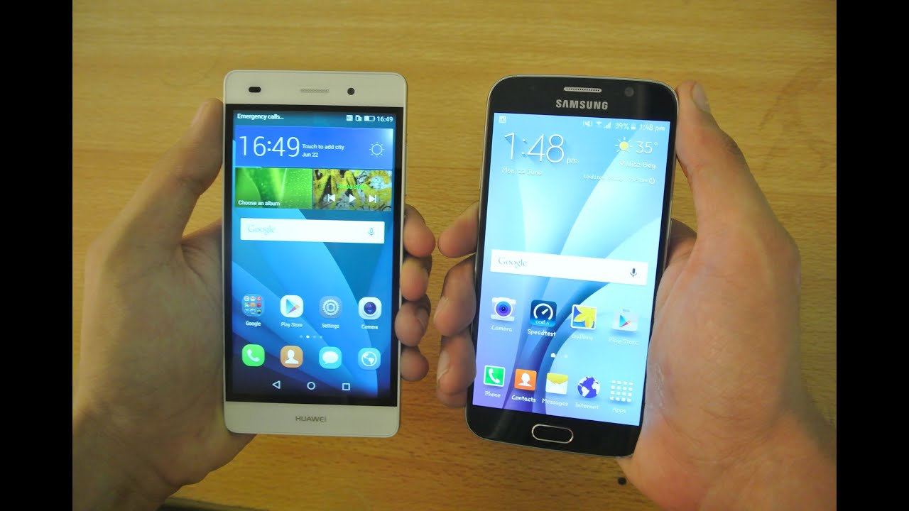 huawei p8 lite vs samsung galaxy s6   which is faster