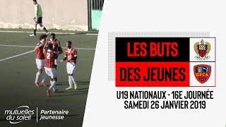 Nice 5-2 GFC Ajaccio (U19 Nationaux) : les buts
