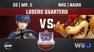 UGC Smash 4 LOSERS QUARTERS  - SS | Mr. E (Marth) vs NRG | Nairo (Zero Suit Samus, Bowser)