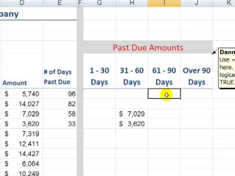 Build an Accounts Receivable Aging Report in Excel - YouTube