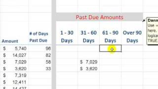 Build an Accounts Receivable Aging Report in Excel