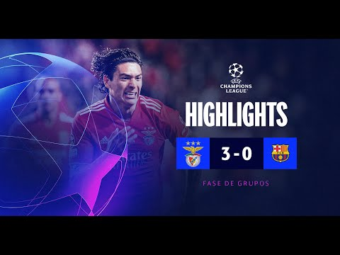 RESUMO/HIGHLIGHTS: SL BENFICA 3-0 FC BARCELONA