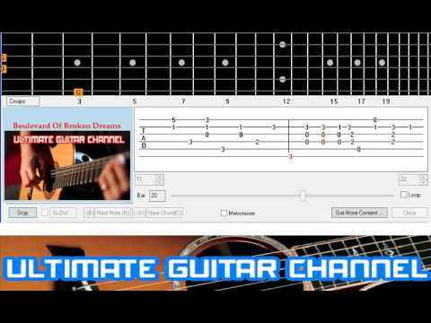 Guitar Solo Tab] Boulevard Of Broken Dreams (Green Day) - YouTube