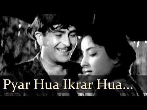 lyrics of the song Pyar Hua Ikrar Hua Hai (प्यार हुआ, इक़रार हुआ है)-Shree 420-- Manna Dey - Lata Mangeshkar