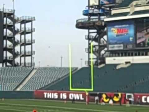Brandon McManus Kicks 53-yard Field Goal at Temple University Football Cherry & White Game