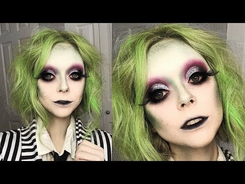 GLAM BEETLEJUICE MAKEUP TUTORIAL thumbnail