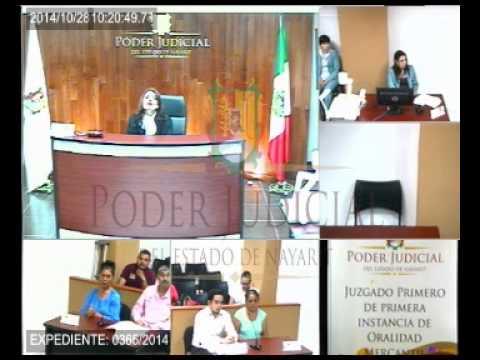 JUICIO ORAL MERCANTIL. AUDIENCIA PRELIMINAR. EXP 0365/2014