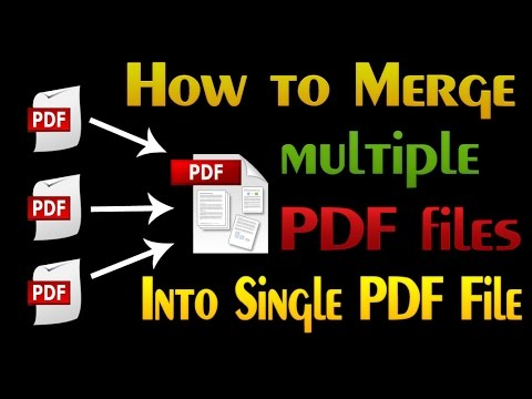 How To Merge Multiple PDF Files Into One PDF File Using Adobe Acrobat 11 For Free