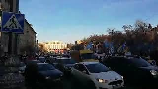 Под Радой в Киеве проходят сразу четыре акции протеста