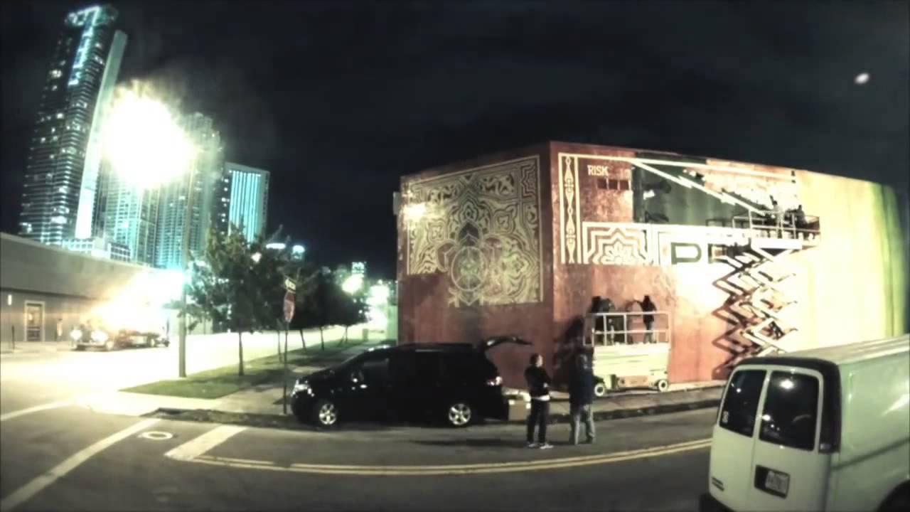 RISK X Shepard Fairey collaboration - Art Basel Miami - MOCAtv