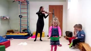 Музыкальный урок в монтессори-центре