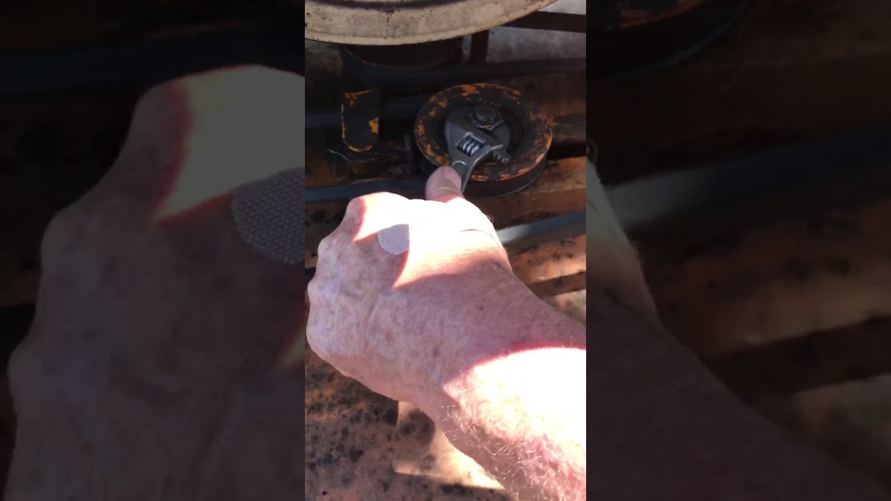 Woods mower RM 59-1 belt tensioning