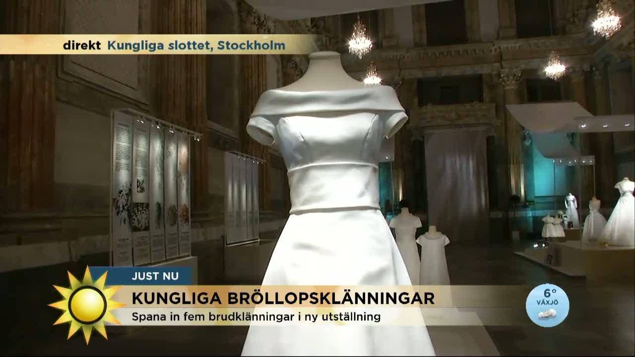 f65a70bb43c0 Frossa i kungliga bröllopsklänningar - Nyhetsmorgon (TV4) - YouTube