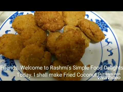 Bhoja Narikolor Pitha ( Fried Coconut Pitha)