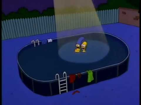 The simpsons swimming nude