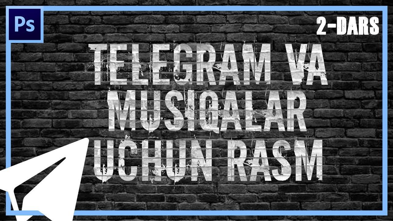 Telegram kanal va musiqalar uchun rasm