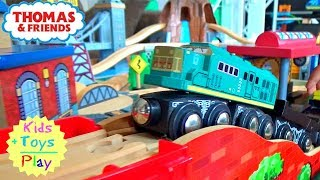 Imaginarium Toy Train Wooden Railway Play Table For Children   Surprise Toys Videos For Kids