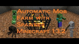 Automatic Mob Farm with Spawner Minecraft (Works in 1.8)