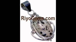 Dalmation Jasper Gemstone Silver Jewelry Http://www.riyogems.com