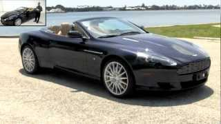 2007 Aston Martin DB9 Volante Convertible Midnight Blue Metallic Gulfstream Motorcars