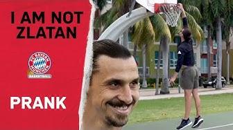 I Am Not Zlatan 🔴⚪ Ibrahimovic Prank beim FC Bayern Basketball