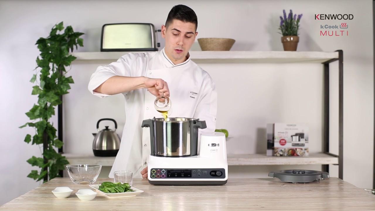 Vídeo Receta Kcook Multi De Kenwood Espaguetis Al Pesto