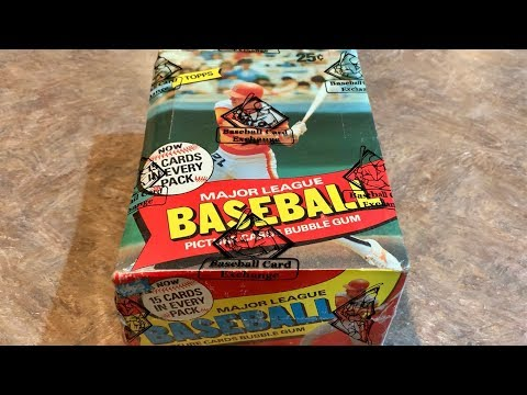 1980 TOPPS WAX BOX OPENING!  (THROWBACK THURSDAY)