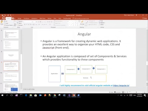 Angular and ASPNET Core (Video2) - YouTube
