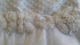 Вышивка ручной работы - пояс для пышного платья!!!