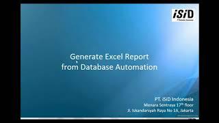 Generate Excel Report from Database using UiPath Studio