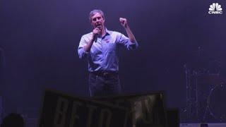 Democrat Beto O'Rourke speaks after losing Senate race to Ted Cruz